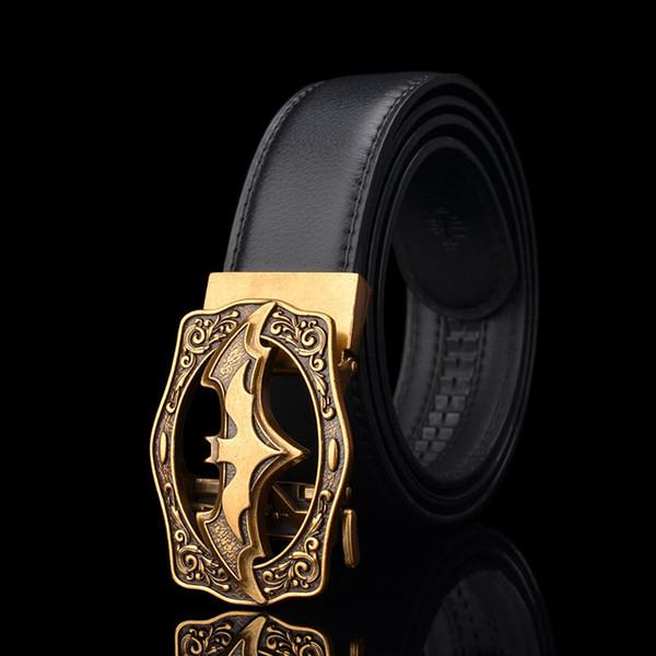 KWD Designer Belts for Men's 2019 Luxury Fashion Bat Automatic Buckle Belt Genuine Leather Kemer for Jeans Riem Cinto