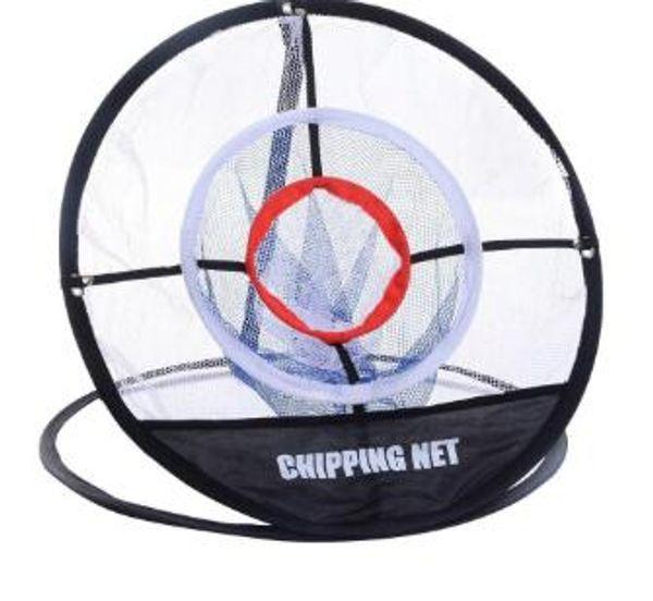 Pop-up portátil Golf Chipping Práctica de lanzamiento Herramienta de ayuda para entrenamiento en red Almacenamiento de memoria de metal Fácil plegable con bolsa de transporte