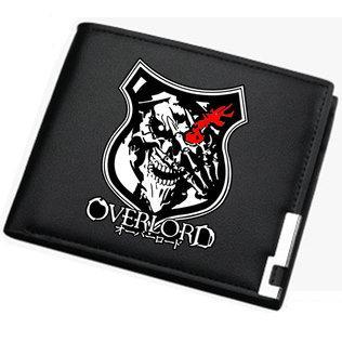 Ainz Ooal Kıyafeti cüzdan Garip karikatür çanta Overlord kısa deri nakit not vaka Para notecase Gevşek değişim çanta çanta Kart sahipleri