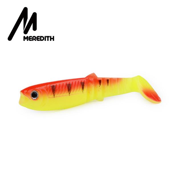 MEREDITH Cannibal Köder 100mm Artificial Weiche Angelköder Wobbler Angeln Weiche-Köder-Silikon-Shad Worm Bass Baits