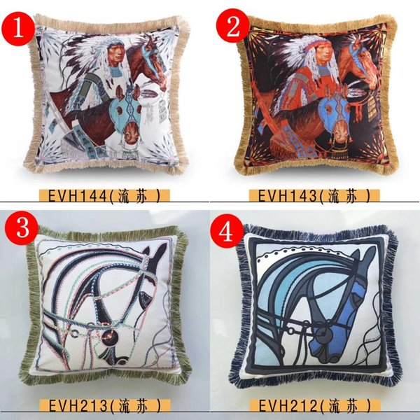 brand new H character pattern Signage tassel cashmere wool material Pillow Case Cushion Cover Family Decoration bedding sofa pillow