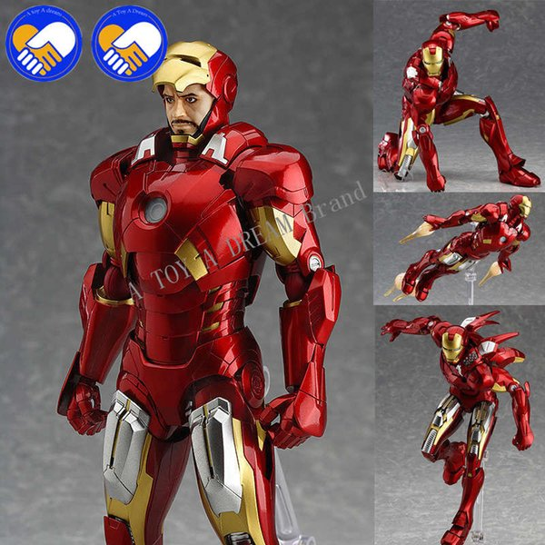 2018 YENI Figma MAX EX-018 Avengers Ironman 15 cm Marveller Demir Adam Action Figure Model Oyuncaklar Brinquedos Anime çocuk Oyuncakları