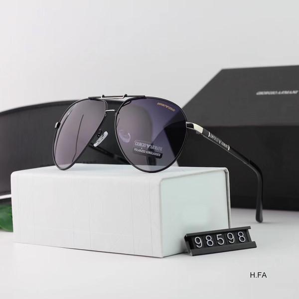 Espelho da forma Dos Homens da Mulher Designer de Óculos De Sol De Luxo Óculos De Sol Designer Óculos de Proteção Adumbral Óculos de Alta Qualidade UV400 98598 4 Cores com caixa