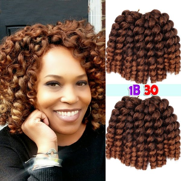 Free shipping 3Pack Synthetic Kinky Twist Braiding Hair Extension For Fashion Women Wand Curl Crochet Hair Synthetic Hair Extension