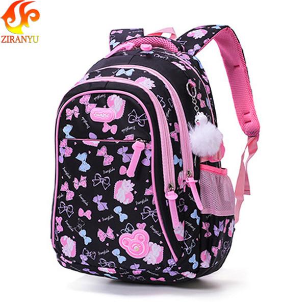 Ziranyu School Bags Children Backpacks For Teenagers Girls Lightweight Waterproof School Bags Child Orthopedics Schoolbags Y19061102