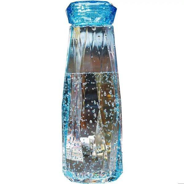 Plastic Crystal Water Bottle 620ml Elegant Protein Shaker Camping Hiking Plastic Bottle Portable Tour Hiking Crystal Kettle MMA1955
