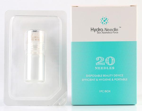 Hydra Needle 20 pins Titanium Micro Needle Meso Derma Roller Needle-free Mesotherapy Skin Care Rejuvenation Whitening Anti Wrinkle