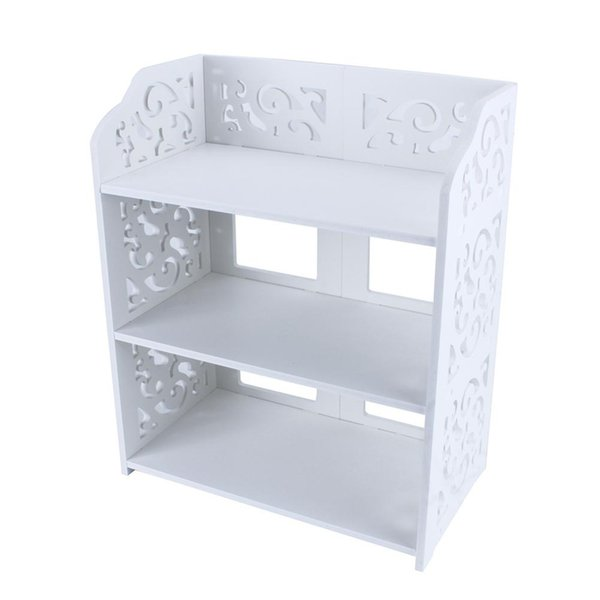 3 Tiers White Hollow Out Shoe Rack Stand Storage Organiser Shoes