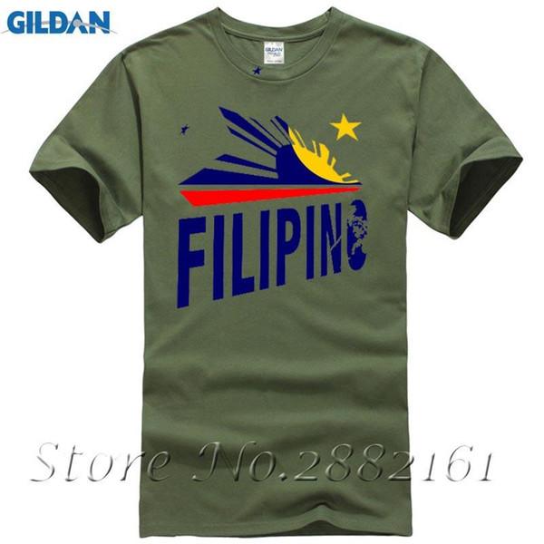 2017 New Fashion Stars Filipino und Sun Printed Kurzarm T-Shirt T-Shirt