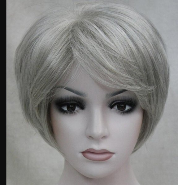 WIG NUEVO ESTILO Envío Gratis Moda Cosplay Anti-Alice Pelucas de pelo corto Partido de la muchacha atractiva púrpura Straighs