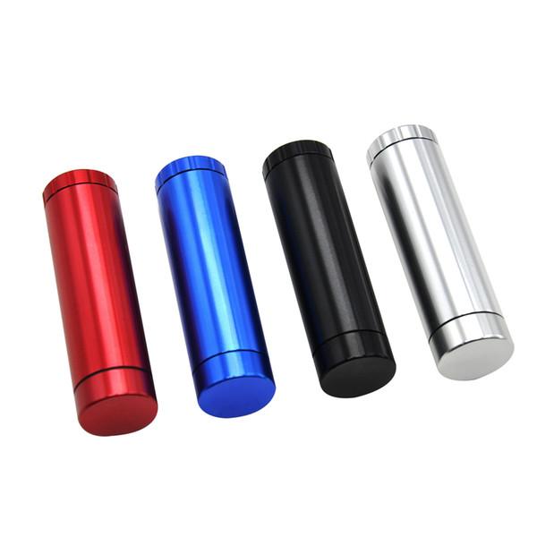 Automatischer Auswurf Dugout mit Schleifer Zigarettenetui Halter Metall Aluminium Tasche Zigarettenetui Composite Zigarettenetui und Box
