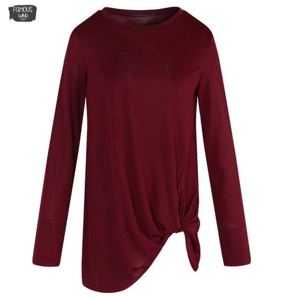 O-Ausschnitt Langarm Flod Polyester Solide Freizeitbluse Lose Damen Brief Top Spring Basic Schwarz 2019 Shirt Plus Size