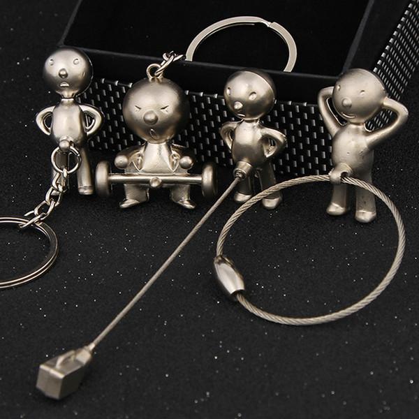 ashion Jewelry Key Chains Creative novelty MR.P boy keychain car keyring fashion casual doll metal trinket key chain ring holder souvenir...