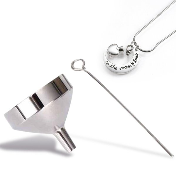 Edelstahl Funnel Filler Kit Werkzeug für Feuerbestattung Halskette Asche Urne Anhänger Schmuck