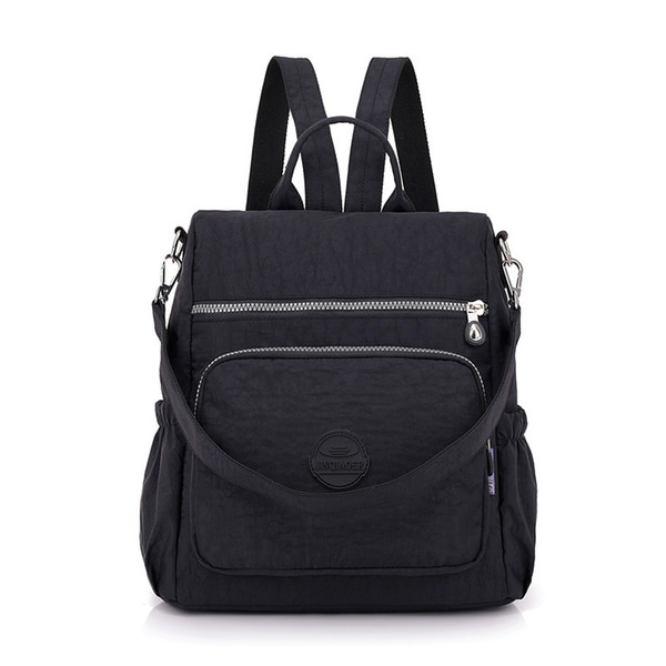 Fashion Women Waterproof Nylon Backpack Korean Style Designers Shoulder School Bag Leisure Rucksack For Girls Y190627