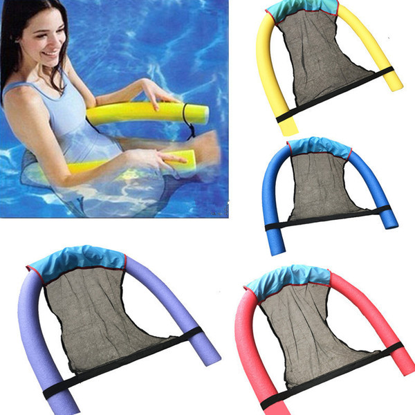 top popular Polyester Floating Pool Noodle Sling Mesh Chair Net For Swimming Pool party Kids Bed Seat Water Relaxation Size 82X44X0.2cm 2021