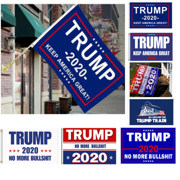 top popular 5 Styles Trump 2020 Flag Donald Trump Flag Keep America Great Donald for President Campaign Banner 90*150cm Garden Flags HH7-1988 2019