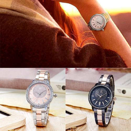 Shengke rosa relógio de ouro das mulheres relógios de quartzo das senhoras top marca de cristal de luxo feminino relógio de pulso menina relógio relogio feminino j190507