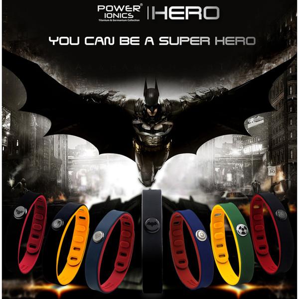 Hero Power Ionics 3000 Ions Idea Band Sports Titanium Bracelet Wristband Balance Human Body Y19051002