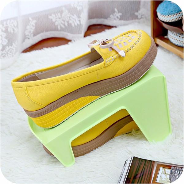 Platzsparende Schuhregal Moderne Up-Down-Schicht Schuhkarton Einfache Reinigung Schuhregal Wohnzimmer Schuh Organizer Ständer