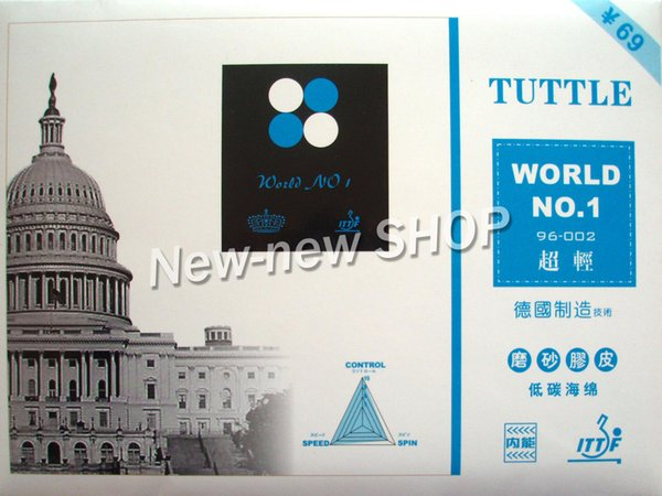 Tuttle World No.1 Super Light Pips In Table Tennis Rubber with Sponge