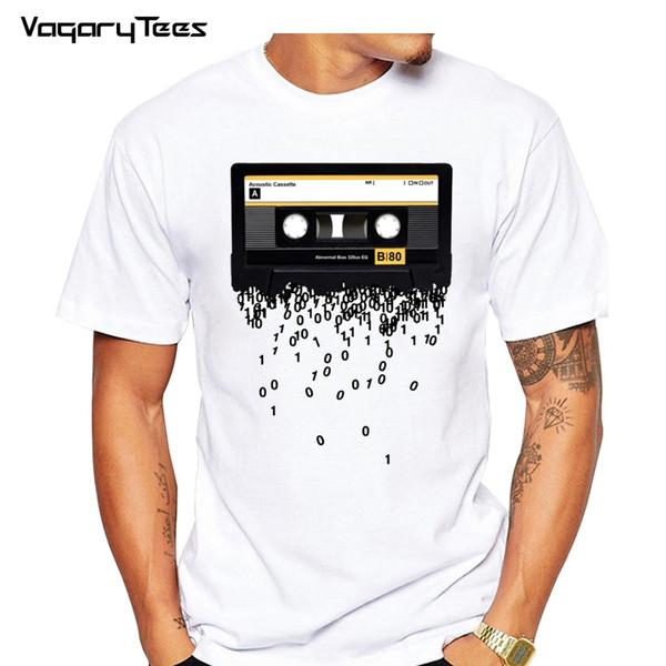 Date 2019 cassettes drôles rétro imprimés T-shirt Funny Creative 80 musique des hommes La mort de la cassette cassette Tshirt