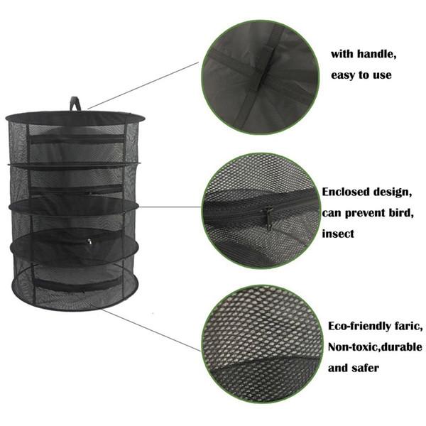 Stendibiancheria Herb Net 4 strati Herb Dryer Mesh Hanging Dryer Rack con cerniera