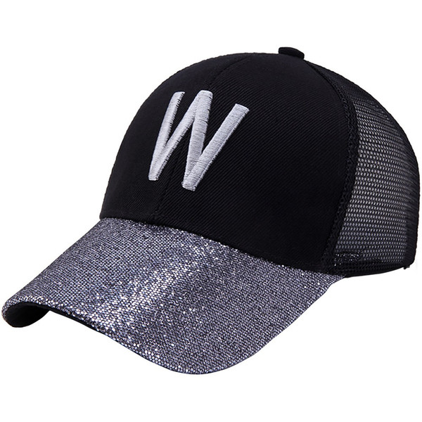 Feitong Men Women Baseball Cap 2019 New Summer Letter W Printed Breathable Mesh Hats Outdoor Sun Block Cap Sun Screen Hat 2019