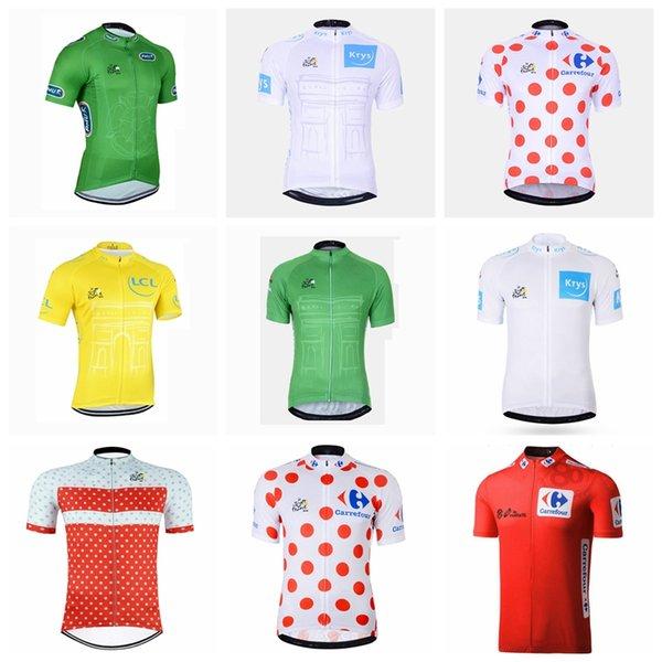 Tour de Francia, equipo de verano 2019 para hombre de manga corta ciclismo jersey Transpirable de secado rápido Ropa de carretera ropa de bicicleta 51724