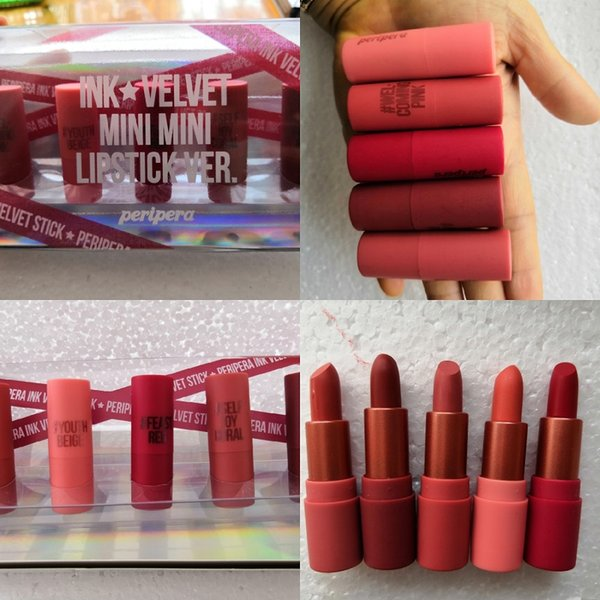 Hot brand Frost Sexy lipstick Makeup look in a box be sfnsational mini size Lipsticks *5 Frost Matte Lipstick