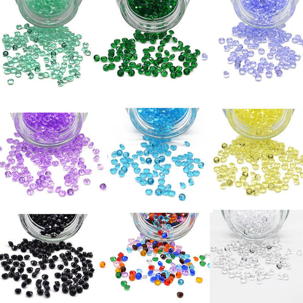 Candy Colors-1000pcs 4.5mm Relleno de jarrón de confeti de diamantes Fiesta-Decoración Bodas Acrílico-grano Boda Fiesta Nupcial Mesa de ducha Dispersión 067