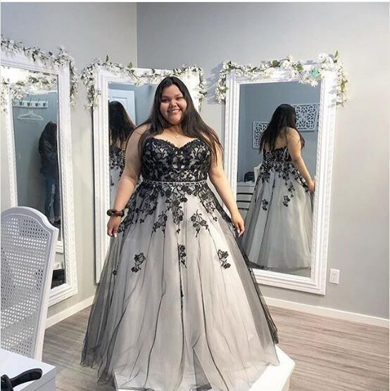 Black Girls Plus Size Long Prom Dresses 2019 Black Lace Applique Paolo  Sebastian Elegant Evening Formal Dresses 2019 Women Party Gowns Prom Dress  ...