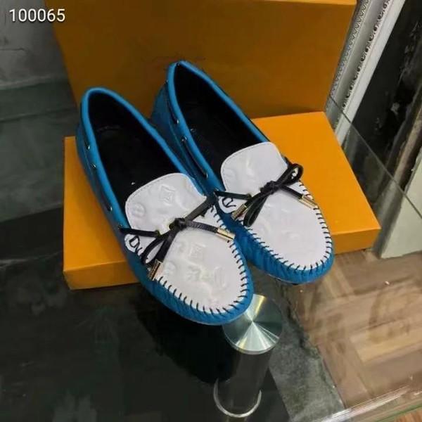 18ss diseñador de lujo de malla de diamantes de imitación zapatos inferiores rojos estampado de leopardo nudo de arco tachonado Spike Flat zapatos casuales tamaño 35-40