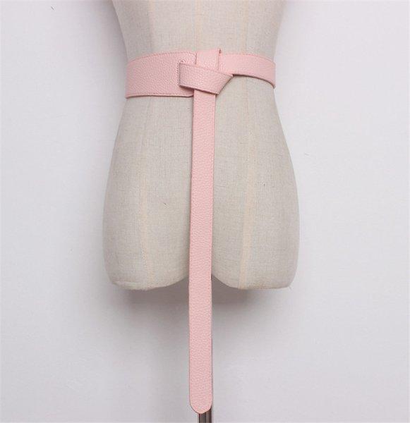 Color:pink&Belt Length:119cm
