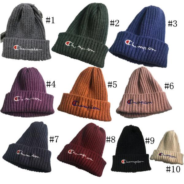 Champion Designer Kinder Beanies Winter Kintted Hüte Jungen Mädchen Marke Warme Wollmützen Gorro Bonnet Kinder Häkeln Skifahren Schädel Hüte C73105