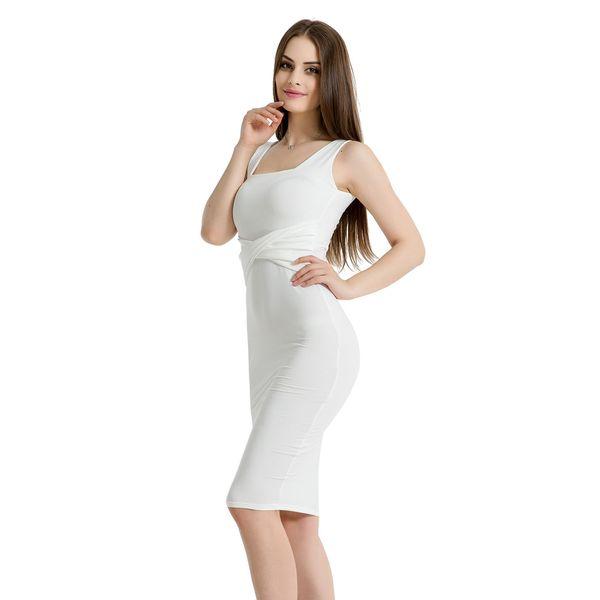 Women Clothes Black And White Grey Designer Dress Sleeveless Square Collar Fold Tight Velvet Dress Sexy Bag Buttock Dress
