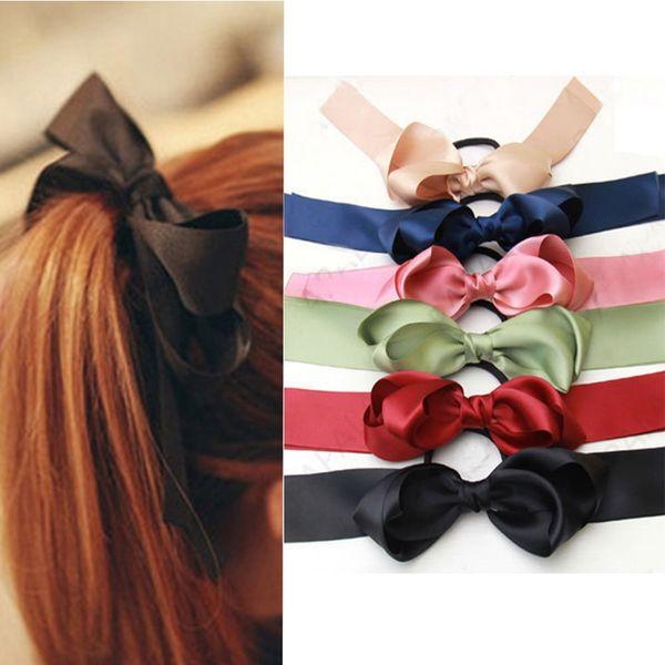 NEW Beautiful Long Tail Ribbon Bow Hair Clip UK Seller