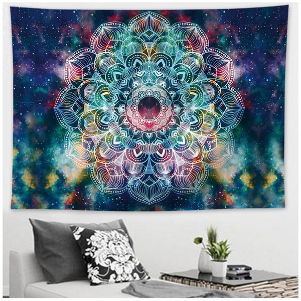 Indien Yoga kreative Tapisserie Mandala Menschen Meditation Muster Wandbehang Throw Mat Handtuch Strand Meditation Home Decoration in Bettwäsche
