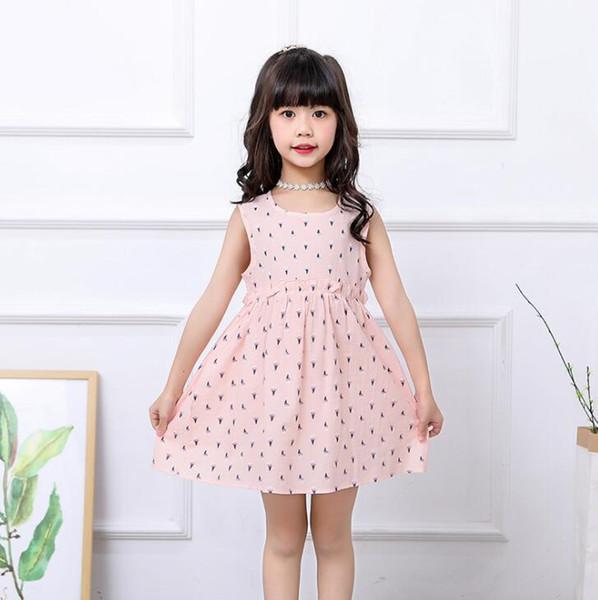 Neue Mädchen Longuette Baumwolle Gebrochene Blumen Kleid Kleider Mädchen Prom Kleider Sommer Prinzessin Kleid beste Qualität 4-21 Lw32