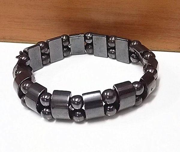 DHL Black Magnetic Therapy Bracelet Hematite Bracelet for Men Women Natural Stone Charm Fashion Accessorices Healthy Bracelets Jewelry