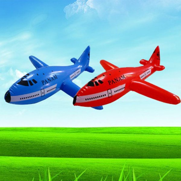Cartoon Plane Inflatable Aircraft Airliner Toys PVC Plastic Balloons Planes Toys Ballon Kid Swimming Birthday Gift Classic Toys 2pcs