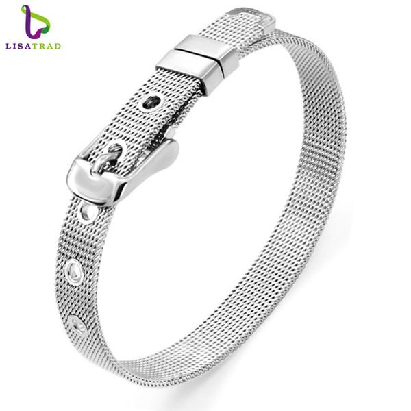 Schaden Armband Mode unisex 21cm Länge 10mm Breite Frauen Edelstahl Charme Armband trendy Edelstahl verstellbare Armbänder für ...