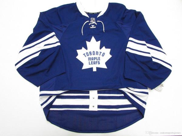 Barato personalizado TORONTO MAPLE HOJAS TERCER JERSEY OBJETIVO CORTAR 58 puntadas agregar cualquier número cualquier nombre Mens Hockey Jersey