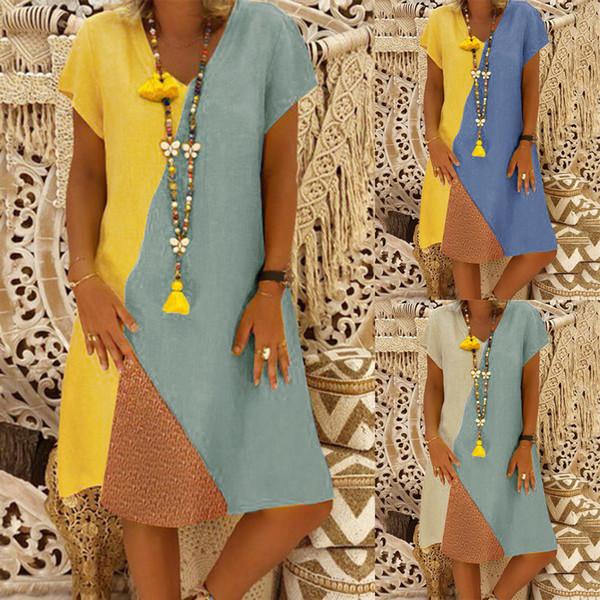 Vfemage Mulheres Elegante Contraste Patchwork Colorblock Desgaste Do Vintage Para O Trabalho de Negócios Oficial Do Partido Bodycon Lápis Bainha Vestido 167