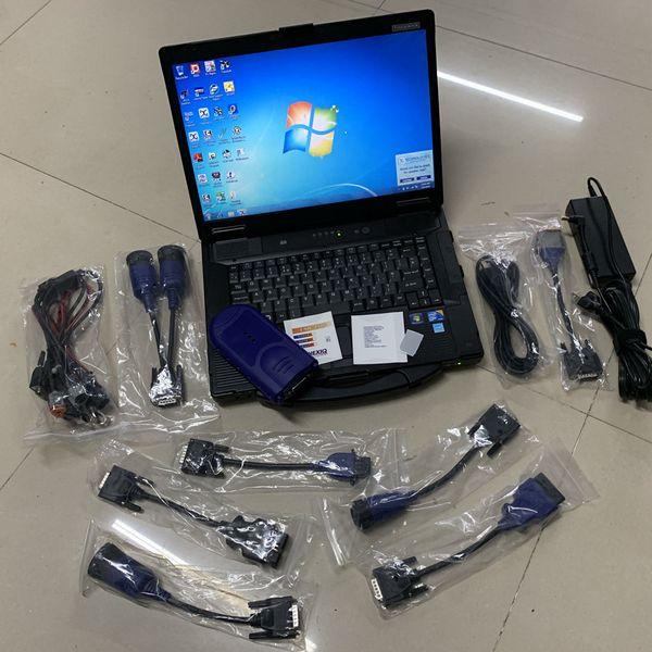 nexiq scanner de link 125032 usb sem bluetooth heavy duty caminhão scanner de diagnóstico com laptop cf52 ram 4g conjunto completo com cabos