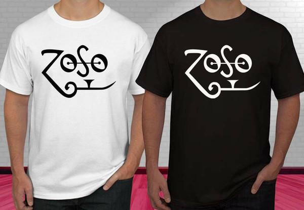 Nuovo JIMMY PAGE Bianco Zoso Logo Led Zeppe Nero Bianco T-shirt uomo S-2XL Divertente spedizione gratuita Unisex Casual top