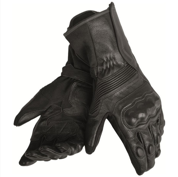 Free shipping 2019 Dain Assen Leather Glove Black/White/Lava Motorcycle/Bike/Motorbike Riding Curved Fingers Gloves Racing Glove