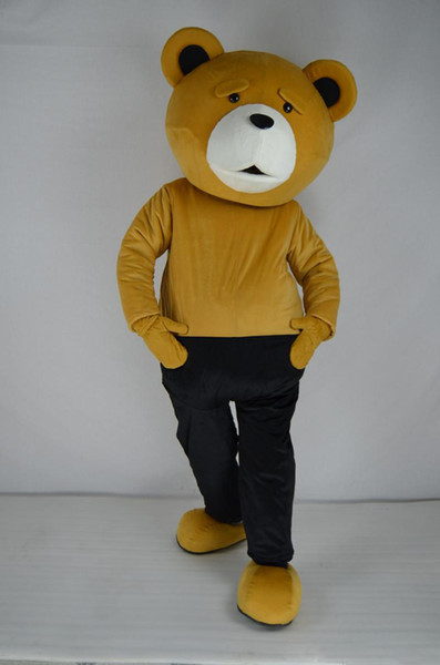 Costume di peluche professionale Teddy Bear Costume mascotte Teddy Costume adulto Fancy Dress Abbigliamento Halloween Party Suit Funny Animal Bear Costume