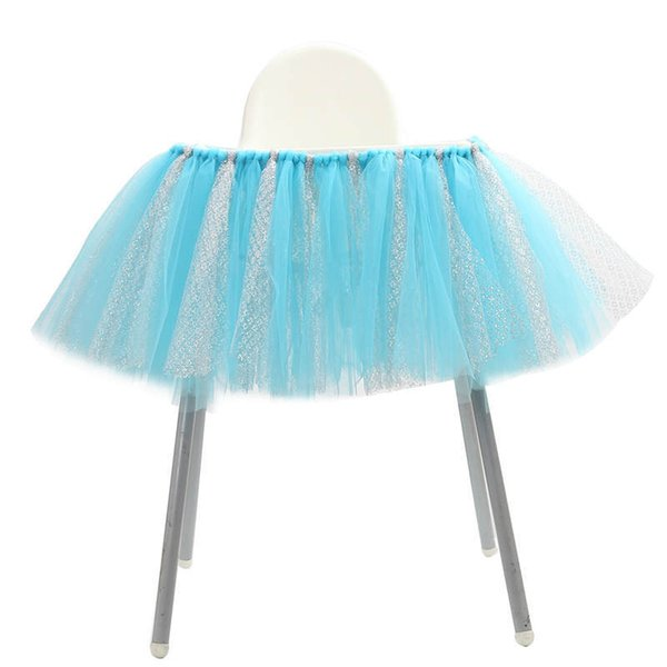 Awesome 2019 Tutu Tulle Skirts High Chair Cover Cloth Birthday Party Ocoug Best Dining Table And Chair Ideas Images Ocougorg