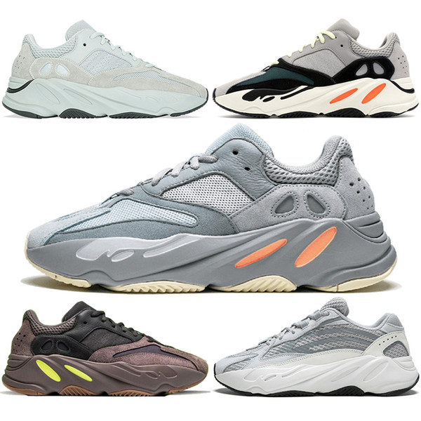 700 Wave Runner Running Shoes Men Women Inertia Mauve Static Salt Geode Triple Black White Kanye West V2 Designer Sport Sneaker Size 36-45